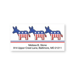 Democrat Double Trim Sheeted Address Labels