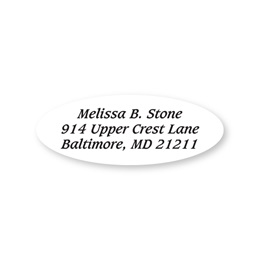 Oval Clear Sheeted Address Labels