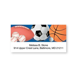 All Sports Montage Sheeted Address Labels