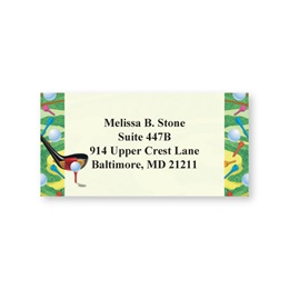 Game of Golf Sheeted Address Labels