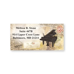 Vintage Melody Sheeted Address Labels