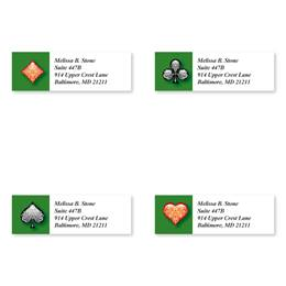 Embellished Card Suits Assorted Sheeted Address Labels
