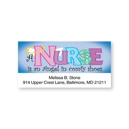 Angel Nurse Sheeted Address Labels