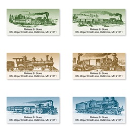 Riding the Rails Assorted Sheeted Address Labels