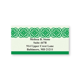 Celtic Green Sheeted Address Labels