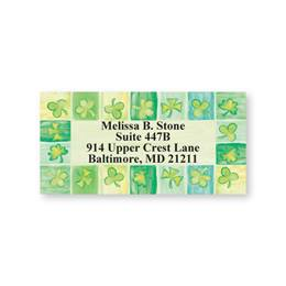 Shamrock Squares Sheeted Address Labels