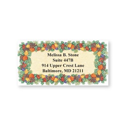 Fall Fruit Border Sheeted Address Labels