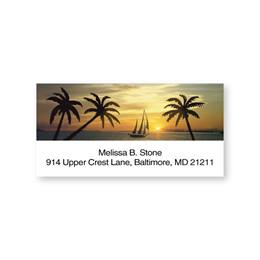 Tropical Sunset Romance Sheeted Address Labels