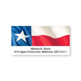 Lone Star State Flag Sheeted Address Labels