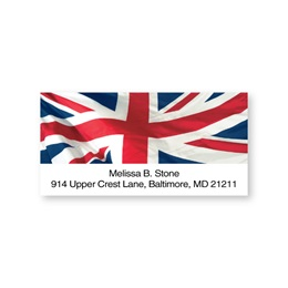 Union Jack Red & Navy Sheeted Address Labels