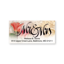 Mr. and Mrs. Romance Sheeted Address Labels