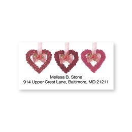 Heart Flower Garland Sheeted Address Labels