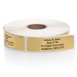Shiny Gold Foil Rolled Labels