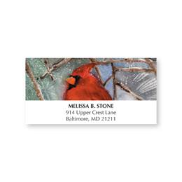 Cardinal Designer Holiday Address Labels