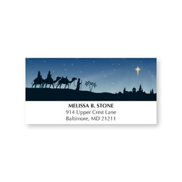 Three Wise Men on a Journey Holiday Address Labels