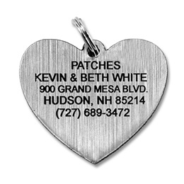 Plastic Heart Shape Pet Tag