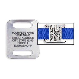 Aluminum Large Slide-On Pet Tag