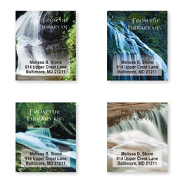 Nature's Waterfalls Assorted Bookplate Labels