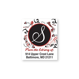 Sophisticated Designer Shoes Bookplate Labels