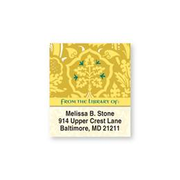 Versailles Patterned Bookplate Labels