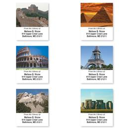 Amazing Wonders of the World Assorted Bookplate Labels