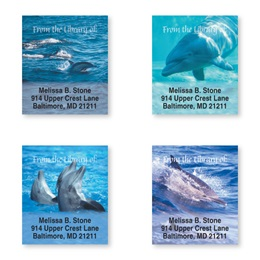 Dolphins at Play Assorted Bookplate Labels
