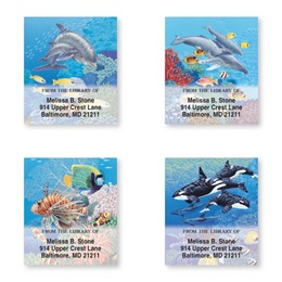 Wonderful Sea Life Assorted Bookplate Labels