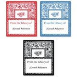 French Toile Assorted Bookplate Labels