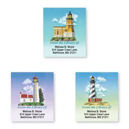 Lovely Lighthouse Assorted Bookplate Labels