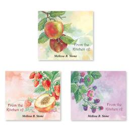 Fresh Fruity Impressions Personalized Canning Label Value Pack