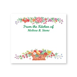 Fruitful Harvest Basket Personalized Canning Labels