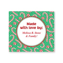 Candy Canes and Peppermint Personalized Goodie Labels