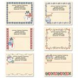 Snowman Holiday Details Personalized Shipping Labels
