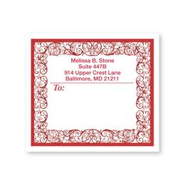 Toile Border Personalized Shipping Labels