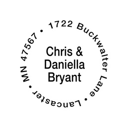 Couples Choice Self-Inking Name & Address Stamp