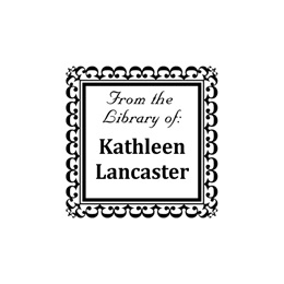 Square Personalized Bookplate Name & Address Self-Inking Stamp