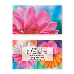 Bright Floral Passions Double-Sided Calling Cards