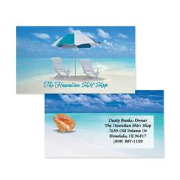 Calm Blue Seas Double-Sided Calling Cards