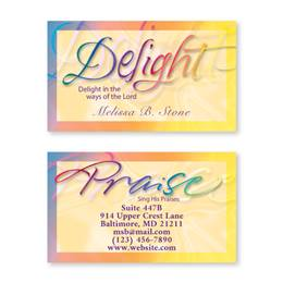Faithful Phrases Double-Sided Calling Cards