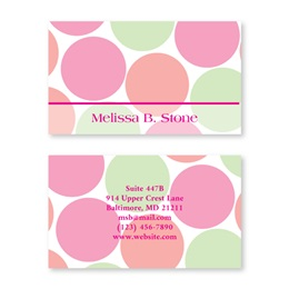 Just Dots Pastel Colored Double-Sided Calling Cards