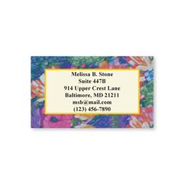 Brushed Garden Flowers Single-Sided Calling Cards
