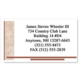 Brown Marble Single-Sided Calling Cards