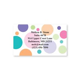 Multicolored Graphic Dots Single-Sided Calling Cards