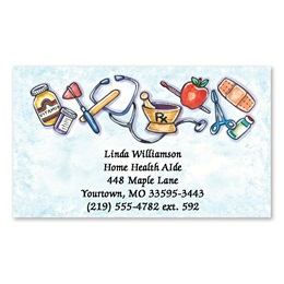 Medical Health Care Single-Sided Calling Cards
