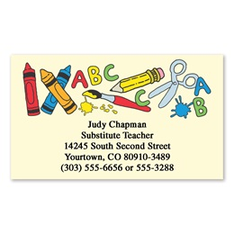 Creative School Tools Single-Sided Calling Cards