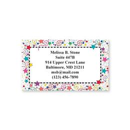 Happy Confetti Single-Sided Calling Cards