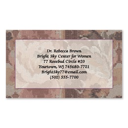Brocade Patterned Single-Sided Calling Cards