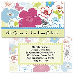 Beautiful Blossoms Double-Sided Calling Cards