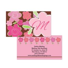 Shades of Floral Pink Double-Sided Calling Cards