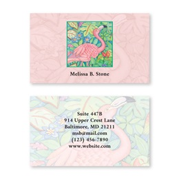 Pink Flamingo Double-Sided Calling Cards